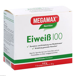 Eiweiss 100 Himbeer Megamax